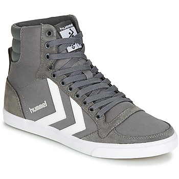 Basket montante Hummel TEN STAR HIGH Gris / Blanc