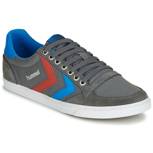 Chaussures Baskets basses Hummel TEN STAR LOW CANVAS Gris / Bleu / Rouge