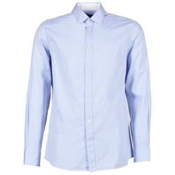 Vêtements Homme Chemises manches longues Hackett SQUARE TEXT MUTLI Bleu