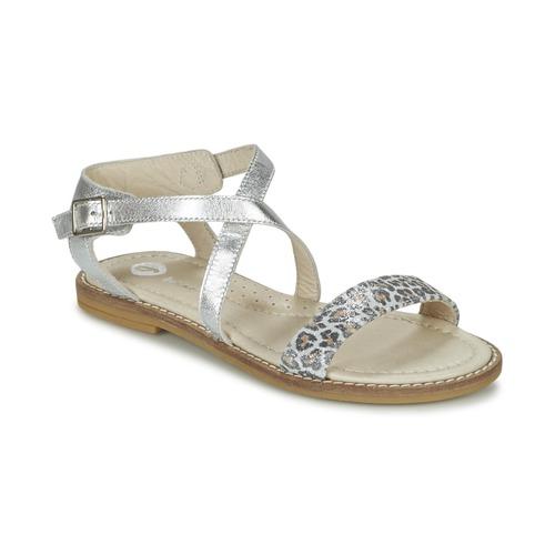 Chaussures Fille Sandales et Nu-pieds Garvalin COSMOS Argent