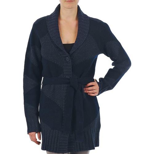 Vêtements Femme Gilets / Cardigans Gant N.Y. DIAMOND SHAWL COLLAR CARDIGAN Marine