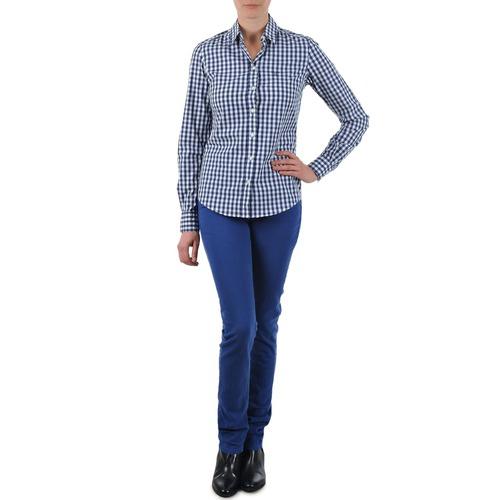 Vêtements Femme Jeans droit Gant N.Y. KATE COLORFUL TWILL PANT Bleu