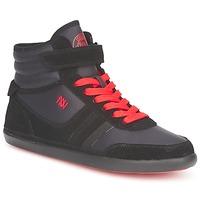 Chaussures Femme Baskets montantes Dorotennis MONTANTE STREET LACETS + VELCRO Noir