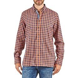 Vêtements Homme Chemises manches longues Hackett SOFT BRIGHT CHECK Orange / Bleu