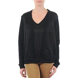 Vêtements Femme Gilets / Cardigans Majestic 238 Noir