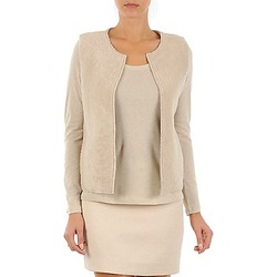 Vêtements Femme Gilets / Cardigans Majestic 241 Beige