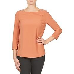 Vêtements Femme T-shirts manches longues Color Block 3214723 Corail