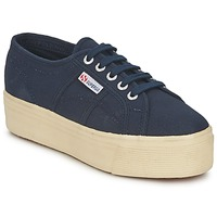 Chaussures Femme Baskets basses Superga 2790 LINEA UP AND Marine