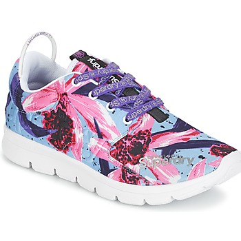 Chaussures Air max tnFemme Baskets basses Superdry SUPERDRY SCUBA RUNNER Rose / Bleu