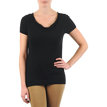 Vêtements Femme T-shirts manches courtes La City PULL COL BEB Noir