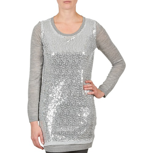 Vêtements Femme Tuniques La City PULL SEQUINS Gris