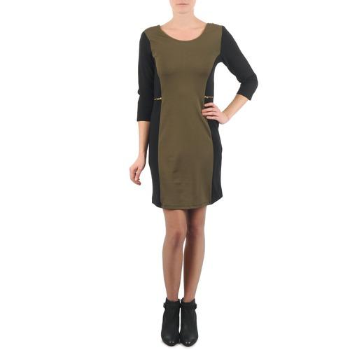 Vêtements Femme Robes courtes La City ROKAMIL Kaki / Noir