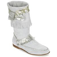 Chaussures Femme Bottes ville Now MATELI Gris / Argent