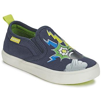 Chaussures Garçon Slips on Geox KIWI B. D Bleu / Vert