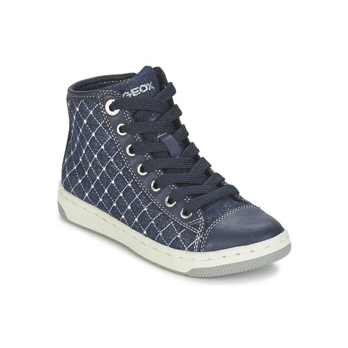 Chaussures Fille Baskets montantes Geox CREAMY B Marine