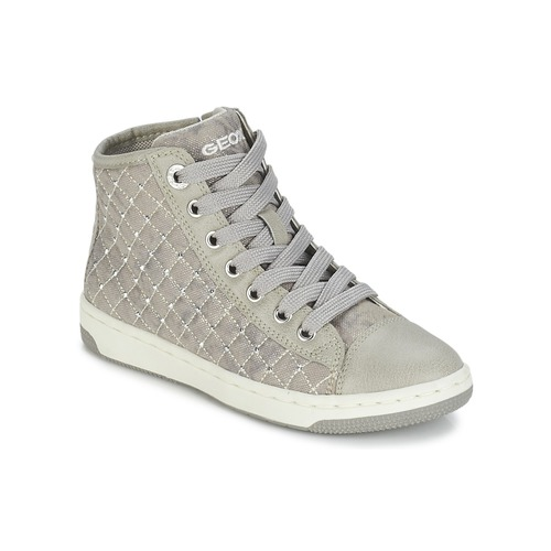 Chaussures Fille Baskets montantes Geox CREAMY B Gris