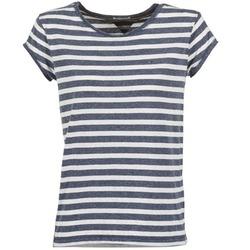 Vêtements Femme T-shirts manches courtes Hilfiger Denim AMELIE Marine / Blanc