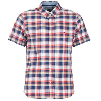 Vêtements Homme Chemises manches courtes Tommy Hilfiger FRENCH CHK Marine / Rouge