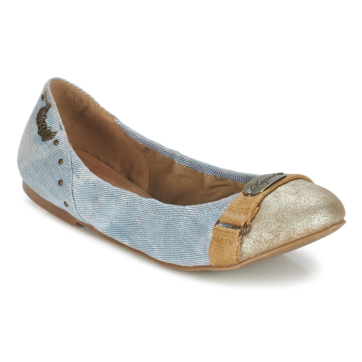 kaporal dory bleu denim chaussure pas cher avec chaussures ballerines femme 19 50. Black Bedroom Furniture Sets. Home Design Ideas
