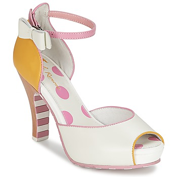Chaussures Femme Sandales et Nu-pieds Lola Ramona ANGIE Rose / Blanc