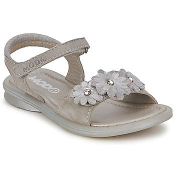Chaussures Fille Sandales et Nu-pieds Mod'8 JUKA Argent