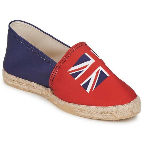 Chaussures Femme Espadrilles Be Only KATE Rouge-Bleu