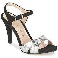 Chaussures Femme Sandales et Nu-pieds Unisa WARIAN Noir / Argent