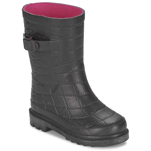 Chaussures Fille Bottes de pluie Be Only CROCO Noir