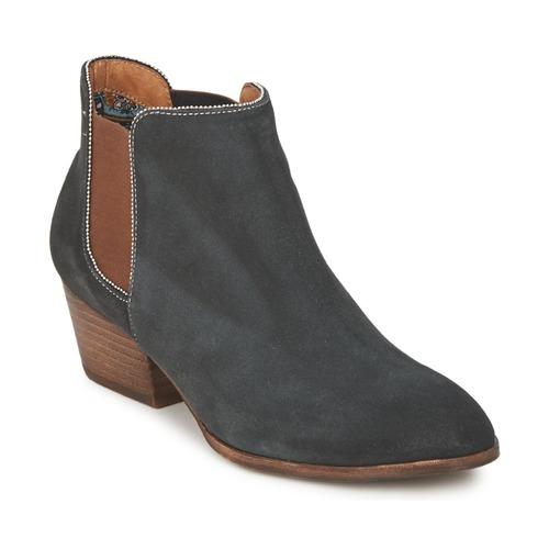 Chaussures Femme Boots Schmoove WHISPER CHELSEA Marine / Marron