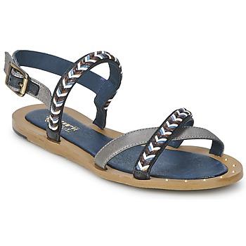 Chaussures Air max tnFemme Sandales et Nu-pieds Schmoove MEMORY LINK Argent / Marine