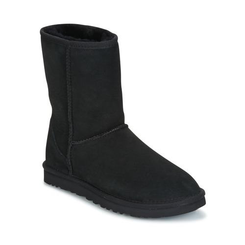 Chaussures Femme Boots UGG CLASSIC SHORT Noir