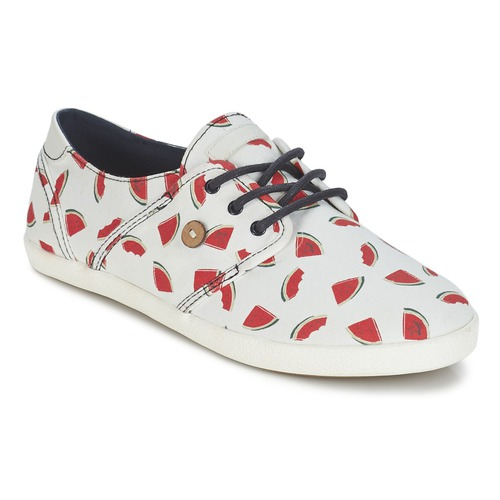 Chaussures Femme Baskets basses Faguo CYPRESS Blanc / Rouge