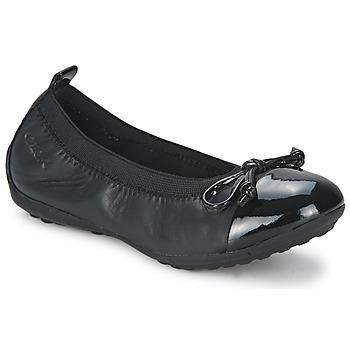 Chaussures Fille Ballerines / babies Geox PIUMA BALLERINE Noir