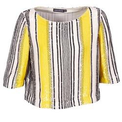 Vêtements Femme Tops / Blouses Antik Batik ZABOU Jaune / Blanc / Noir