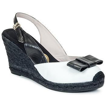 Chaussures Femme Sandales et Nu-pieds RAS FROI Noir / Blanc