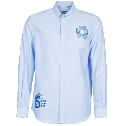 Vêtements Homme Chemises manches longues Serge Blanco ANTONIO Bleu