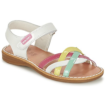 Chaussures Fille Sandales et Nu-pieds Pablosky ATINA Blanc / Multicolore