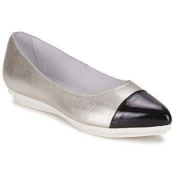 Chaussures Femme Ballerines / babies Alba Moda DRINITE Argenté / Noir