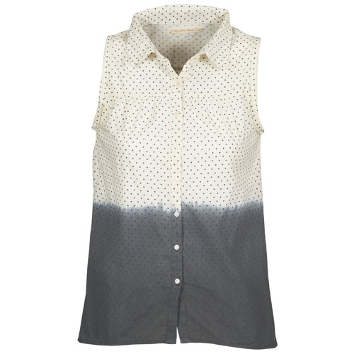 Vêtements Femme Chemises / Chemisiers Teddy Smith CAMILLE Bleu / Ecru