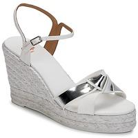 Chaussures Air max tnFemme Sandales et Nu-pieds Castaner BESSIE Blanc / Argent