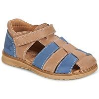 Chaussures Garçon Sandales et Nu-pieds Citrouille et Compagnie FRINOUI Marron / Bleu