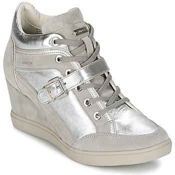 Chaussures Femme Baskets montantes Geox ELENI C Argent