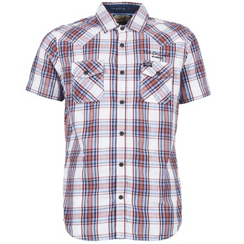 Petrol Industries SHIRT SS Blanc / Rouge