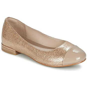 Chaussures Femme Ballerines / babies Clarks FESTIVAL GOLD Champagne