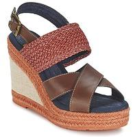 Chaussures Femme Sandales et Nu-pieds Napapijri BELLE Marron foncé / Rouge