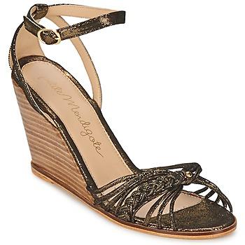 Chaussures Femme Sandales et Nu-pieds Petite Mendigote COLOMBE Noir / Doré