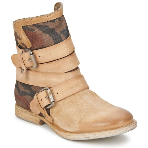 Chaussures Femme Boots Airstep / A.S.98 TRIP METAL NUDO-MILITARE-NATURAL