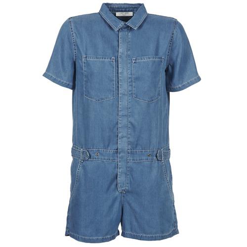 Vêtements Femme Combinaisons / Salopettes Teddy Smith CALINCA DENIM LYOCELL Bleu