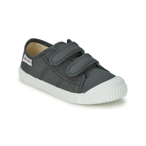 Chaussures Enfant Baskets basses Victoria BLUCHER LONA DOS VELCROS Anthracite