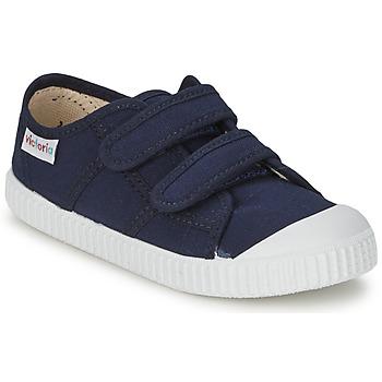 Chaussures Enfant Baskets basses Victoria BLUCHER LONA DOS VELCROS Marine
